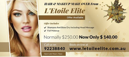 HAIR & MAKEUP MAKE OVER From L'Etoile Elite